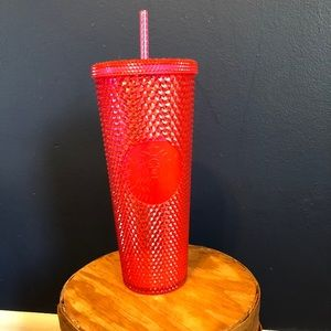 New pink Starbucks studded tumbler cup